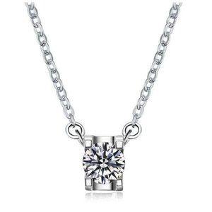 1 Carats CVD diamond women necklace pendant white